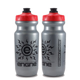 NGN Sport – High Performance Bike Water Bottles – 21 oz | Silver Iridescent & Black (2-Pack)