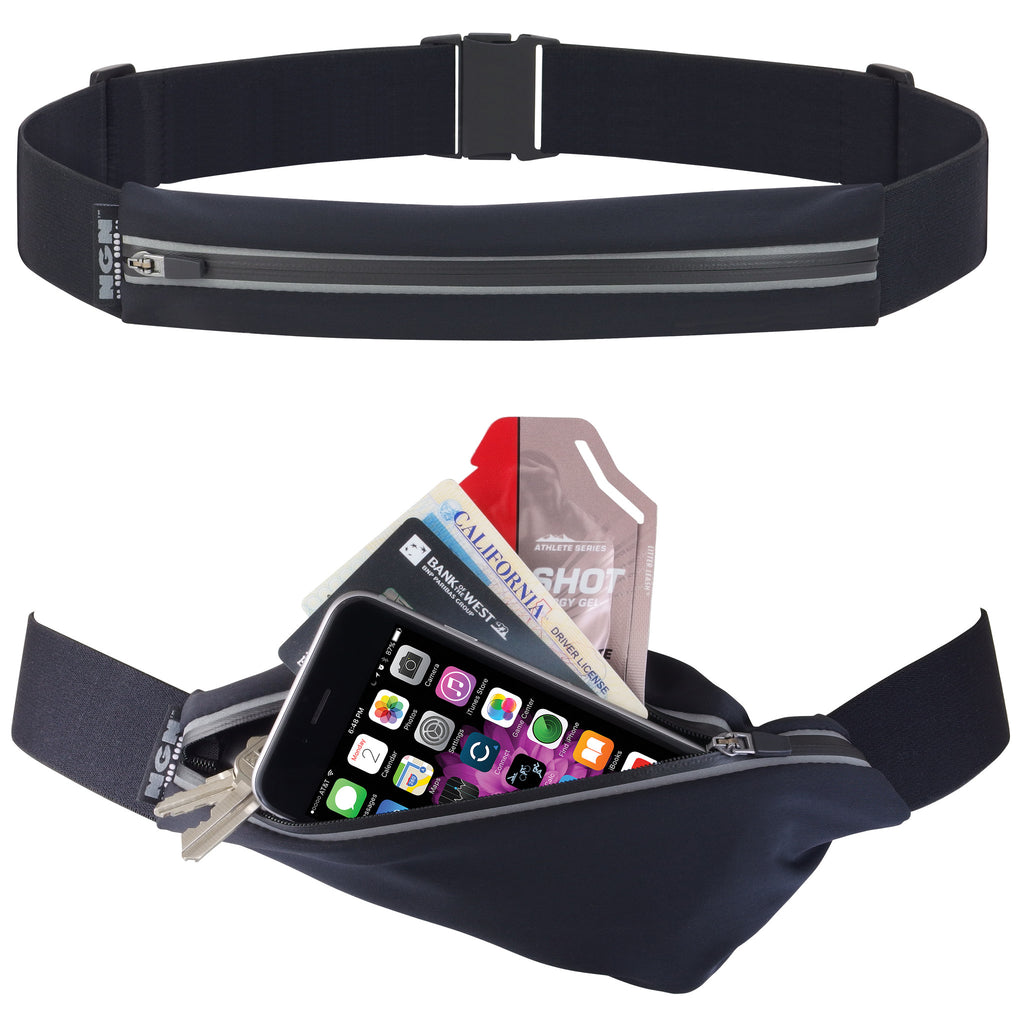 NGN® Sport 1-Pocket Running/ Fitness Waist Pack | Black