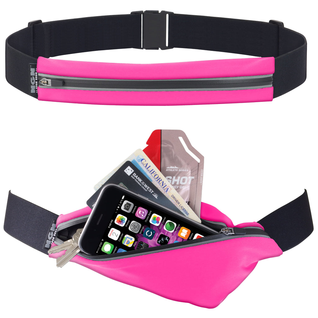 NGN® Sport 1-Pocket Running/ Fitness Waist Pack | Pink