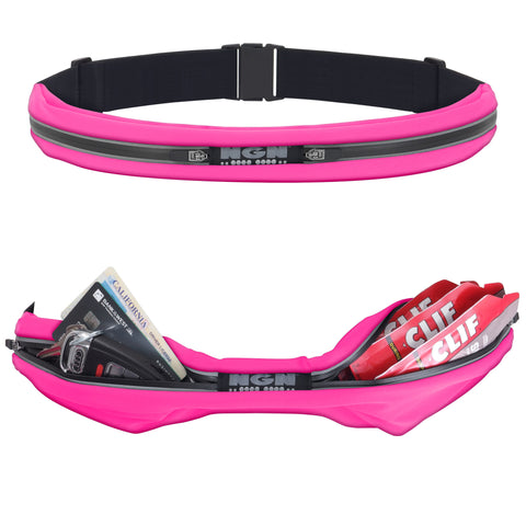 NGN® Sport 2-Pocket Running/ Fitness Waist Pack | Pink