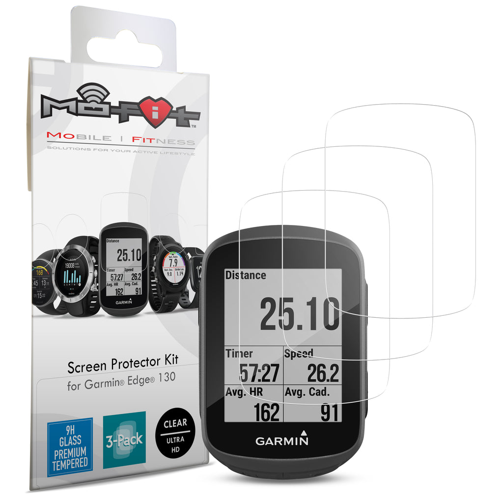 Screen Protector Kit for Garmin Edge 130 (Tempered Glass) 3-Pack