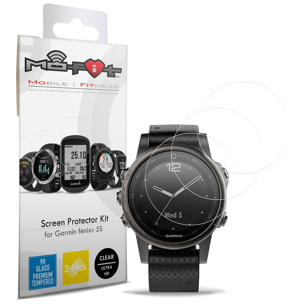 Screen Protector Kit for Garmin Fenix 5S (42 mm) NOT FOR FENIX 5 PLUS (Tempered Glass) 3-Pack