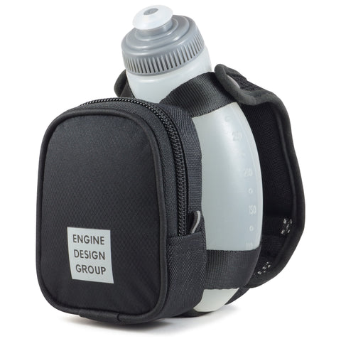 NGN Sport® - Running Water Bottle Handheld | Hydration Bottle & Pack with Zippered Pocket - 10 oz
