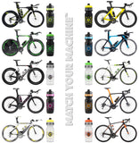 NGN Sport – High Performance Bike Water Bottles – 24 oz | Black & Fluoro Chartreuse Yellow (2-Pack)