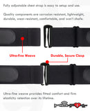 HRM Soft Strap Replacement | Universal Replacement for Mo-Fit, Most Garmin, and Many Polar, and Wahoo HRM Transmitters | Black