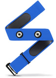 HRM Soft Strap | Universal Replacement for Mo-Fit, Most Garmin, & Select/ Legacy Polar & Wahoo HRM Transmitters | Blue (M-XXL)