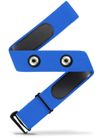HRM Soft Strap Replacement | Universal Replacement for Mo-Fit, Most Garmin, and Many Polar, and Wahoo HRM Transmitters | Blue (M-XXL)