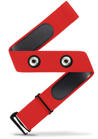 HRM Soft Strap Replacement | Universal Replacement for Mo-Fit, Most Garmin, and Many Polar, and Wahoo HRM Transmitters | Red (M-XXL)