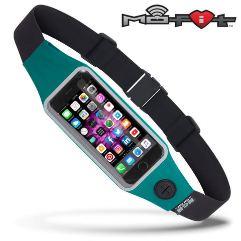 Mo-Fit® Waist Pack / Running Belt for iPhone, Android and most Smartphones | Peacock