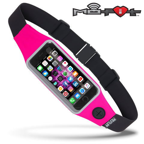 Mo-Fit® Waist Pack / Running Belt for iPhone, Android and most Smartphones | Hot Pink