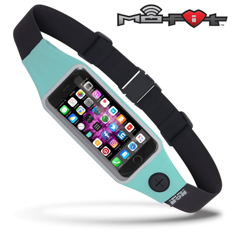 Mo-Fit® Waist Pack / Running Belt for iPhone, Android and most Smartphones | Turquoise