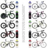 NGN Sport – High Performance Bike Water Bottles – 24 oz | Clear & Blue (2-Pack)