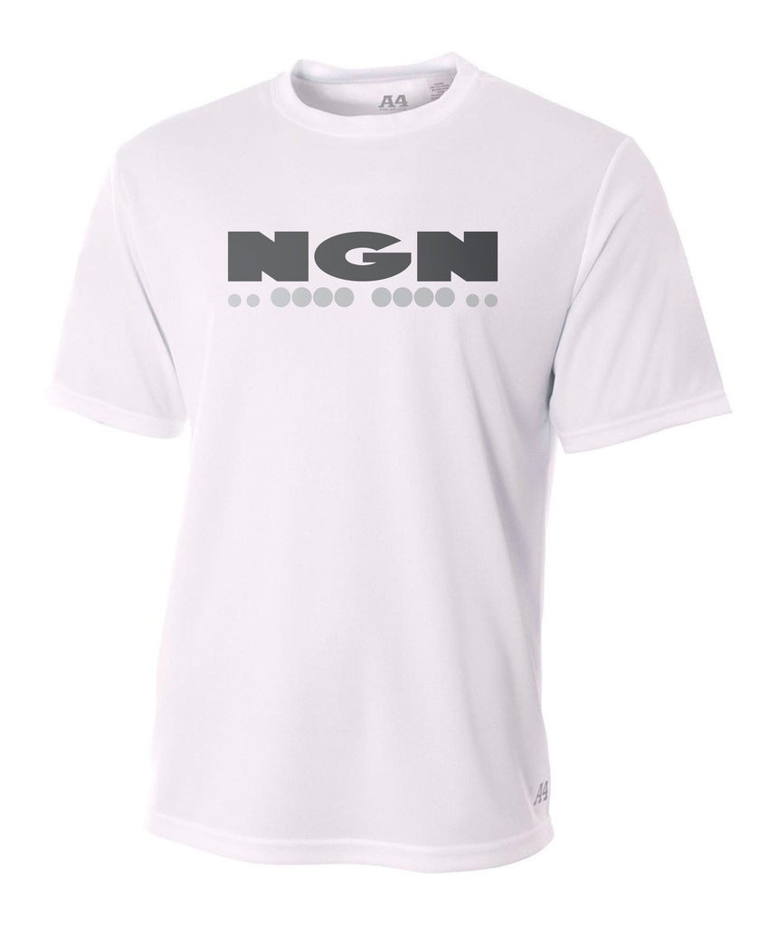 Men's Cooling Performance Crew Neck Tech Tee | White