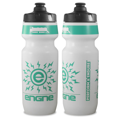 NGN Sport – High Performance Bike Water Bottles – 24 oz | White/Pastel Aqua (2-Pack)
