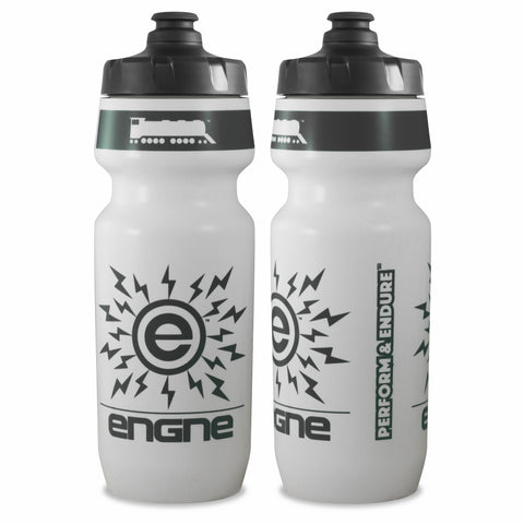 NGN Sport – High Performance Bike Water Bottles – 24 oz | White/Charcoal Gray (2-Pack)