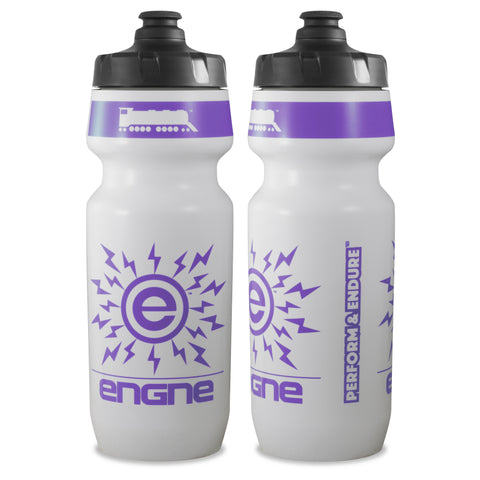 NGN Sport – High Performance Bike Water Bottles – 24 oz | White/Pastel Purple (2-Pack)