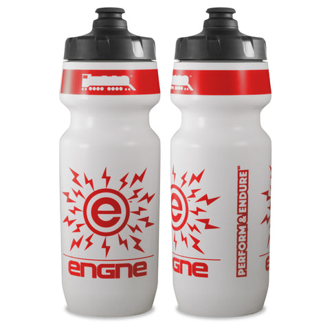NGN Sport – High Performance Bike Water Bottles – 24 oz | White/Fire Engne Red (2-Pack)