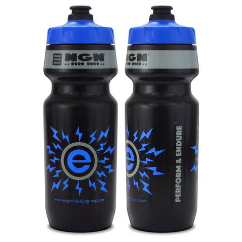 NGN Sport – High Performance Bike Water Bottles – 24 oz | Black & Blue (2-Pack)