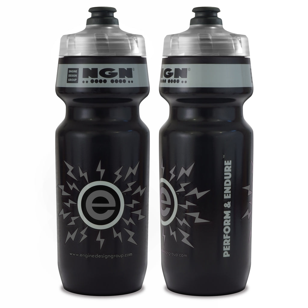 NGN Sport – High Performance Bike Water Bottles – 24 oz | Black & Gray (2-Pack)