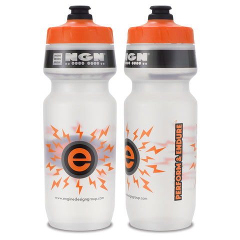NGN Sport – High Performance Bike Water Bottles – 24 oz | Clear & Orange (2-Pack)