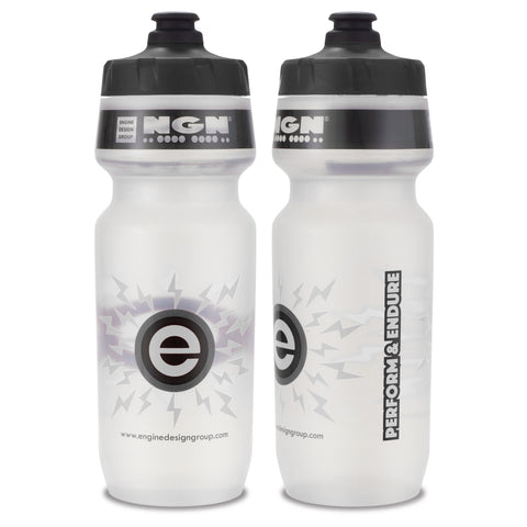 NGN Sport – High Performance Bike Water Bottles – 24 oz | Clear & Gray (2-Pack)