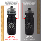eNGNe – High Performance Bike Water Bottles – 24 oz | Red & Black (2-Pack)