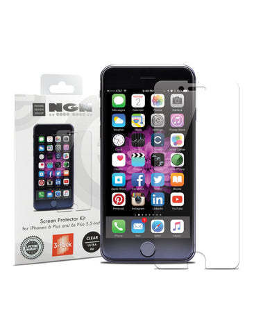 Screen Protector Kit for iPhone 6 Plus and 6s Plus 5.5-inch (Clear Ultra HD) 3-Pack