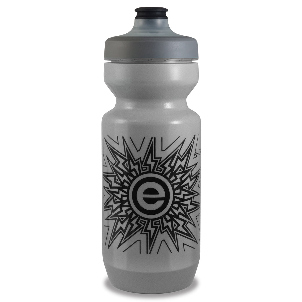 NGN Sport - Purist Water Bottle | Premium Bike Water Bottle with Watergate Cap - 22 oz | Silver Iridescent (1-Pack)