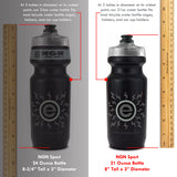 NGN Sport – High Performance Bike Water Bottles – 21 oz | Black & Red (2-Pack)
