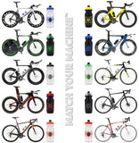 NGN Sport – High Performance Bike Water Bottles – 21 oz | Clear & Orange (2-Pack)