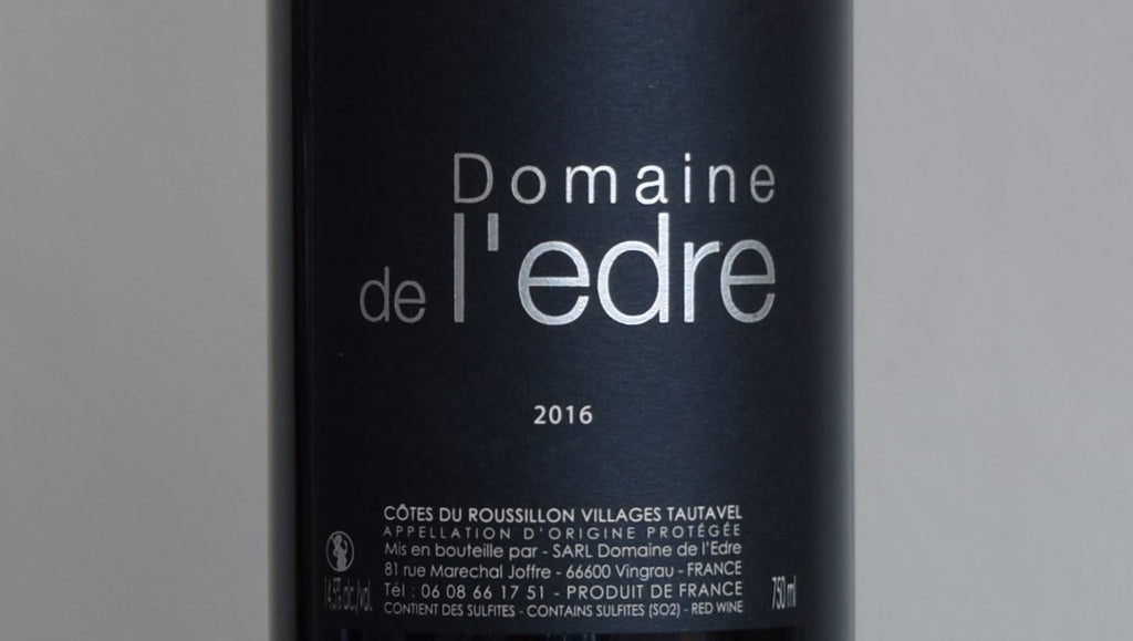 Domaine de l'Edre, Cotes du Roussillon Villages Tautavel, France 2016