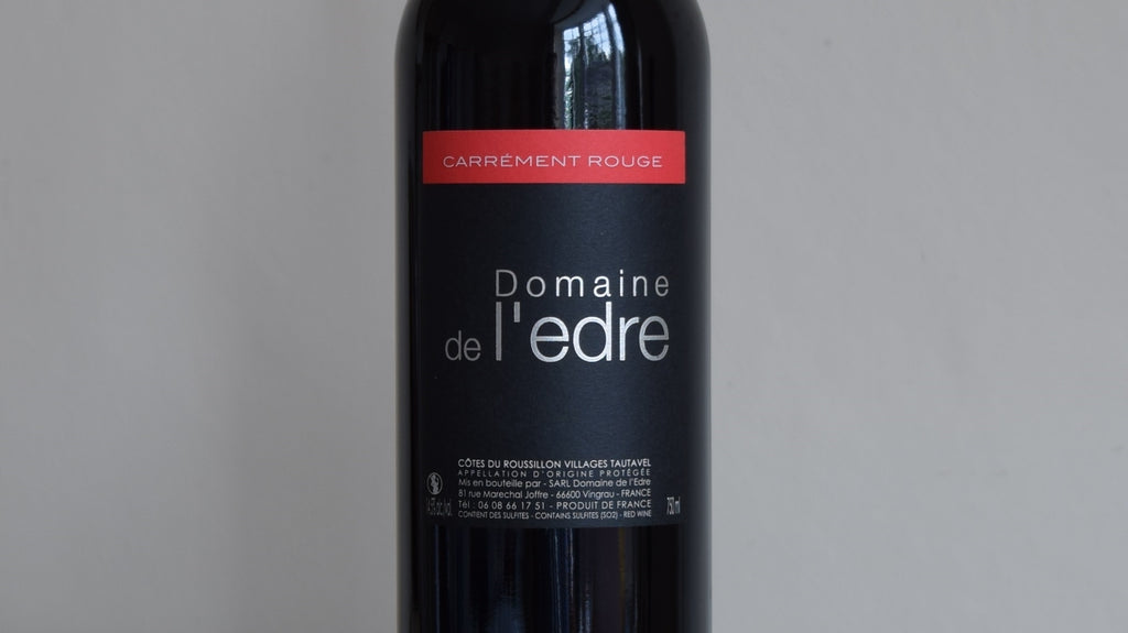 Domaine de l'Edre, Carrement Rouge, Cotes du Roussillon Villages Tautavel, France 2019