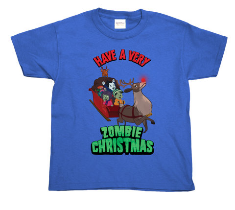 Zombie Christmas T (Limited Edition) - Blue