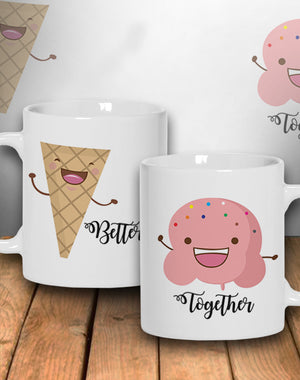 MUG - Ice Cream Couple 2pc's