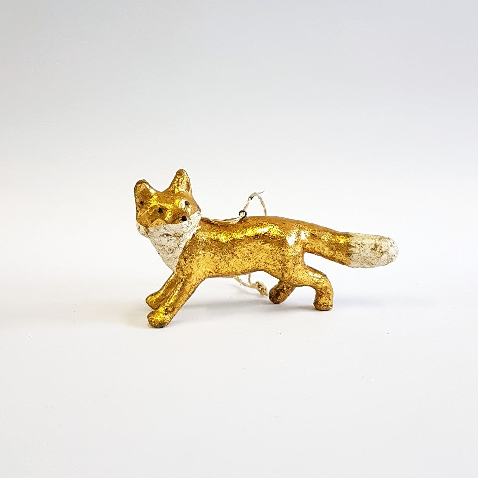Fox Ornament - Blue Bowl