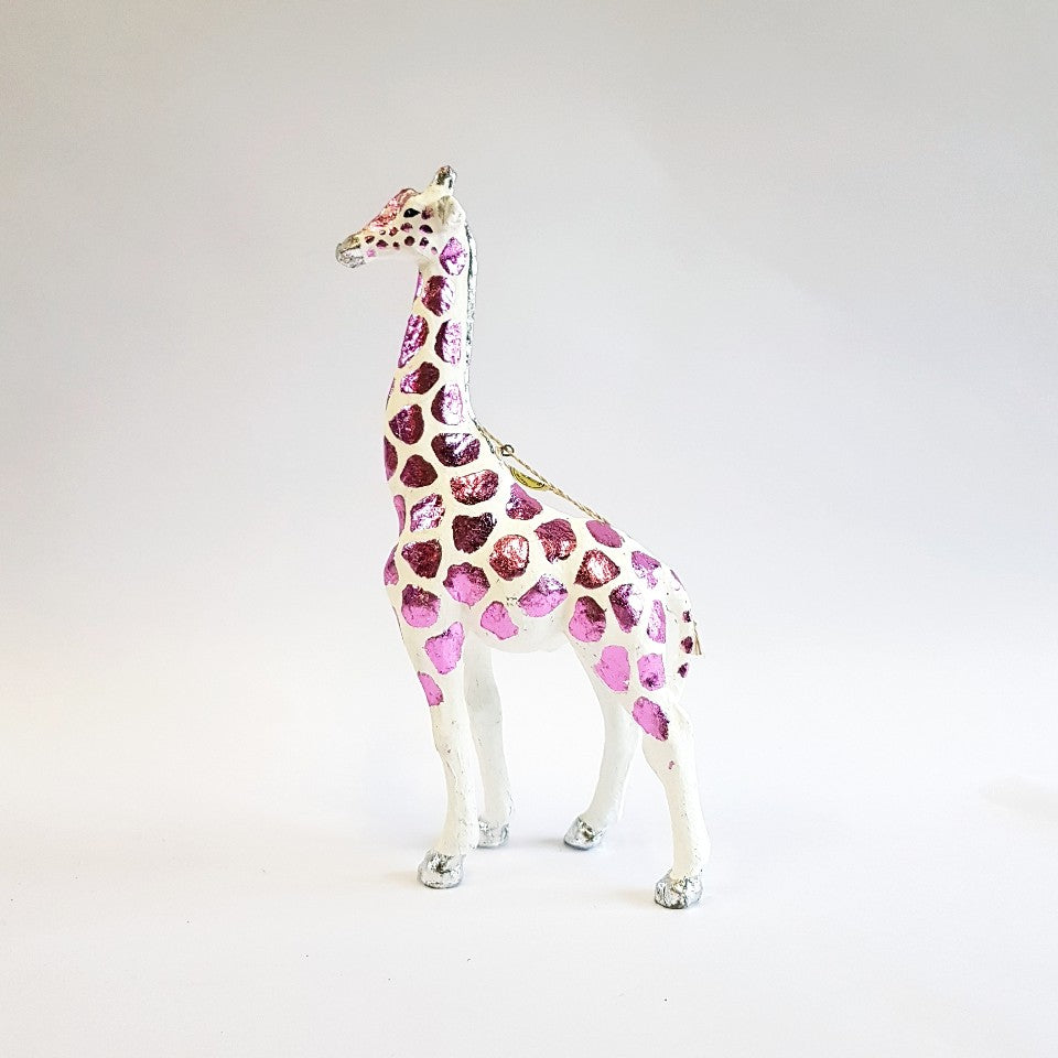 Giraffe Ornament - Blue Bowl