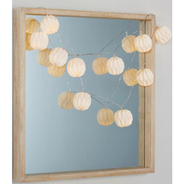 Origami String Lights - Blue Bowl