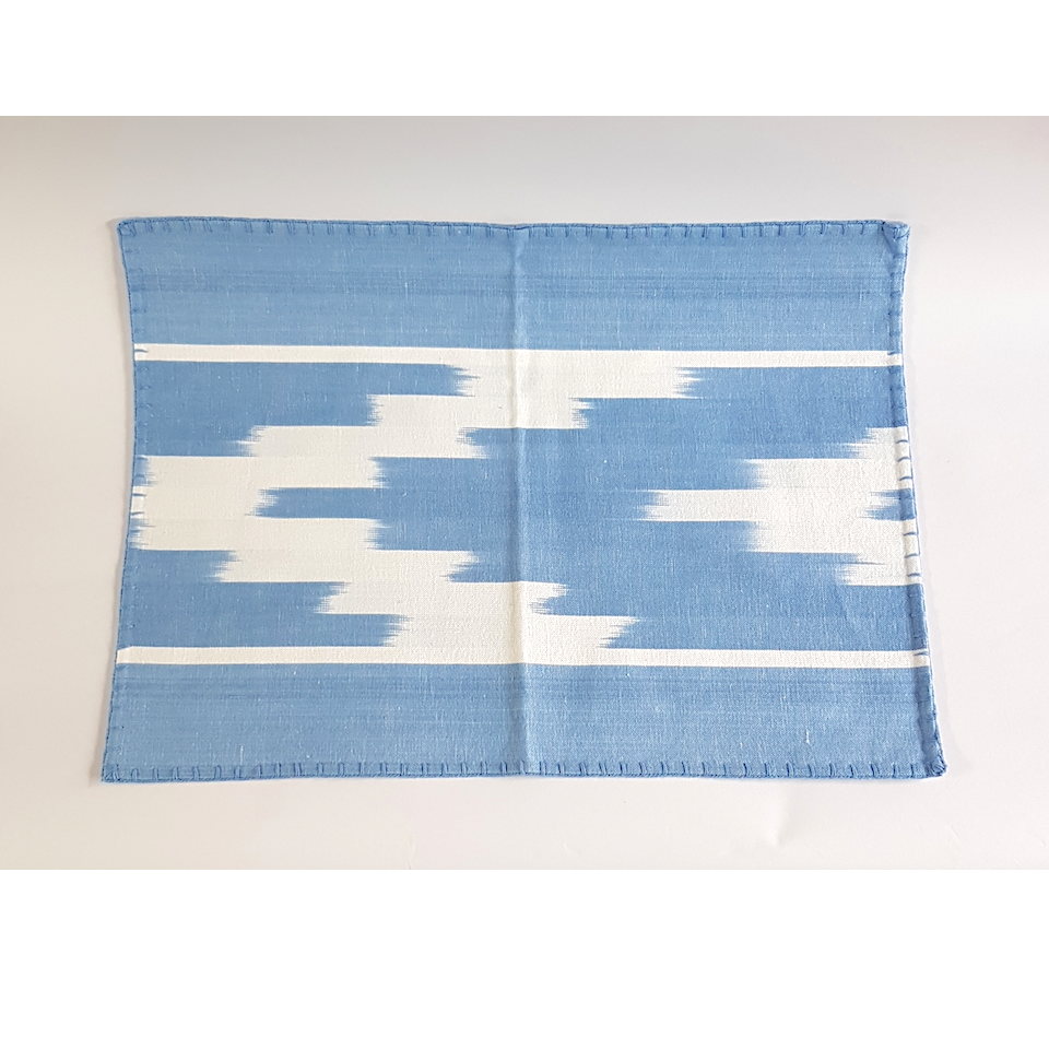 Ikat Placemat - Blue Bowl