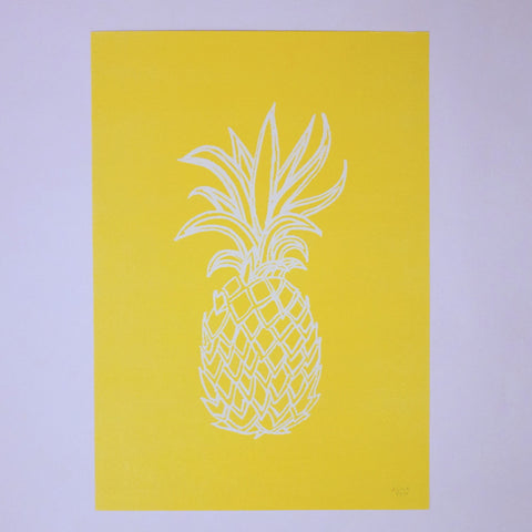 Pineapple Print - Blue Bowl