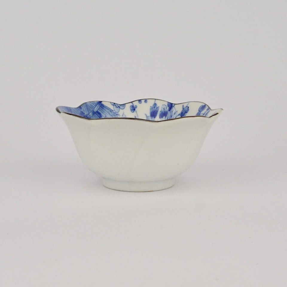 Flower Bowl - Blue Bowl