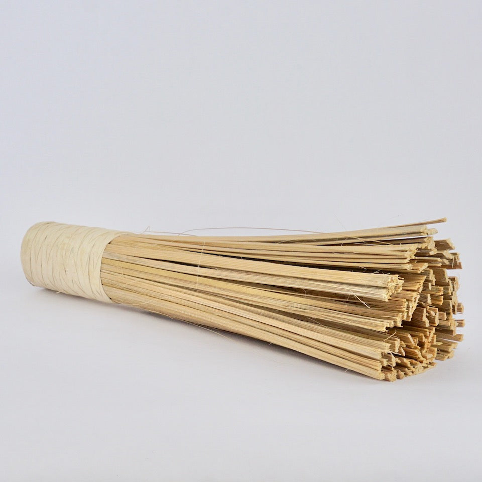 Bamboo Wok Brush - Blue Bowl