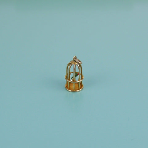Gold Birdcage Charm
