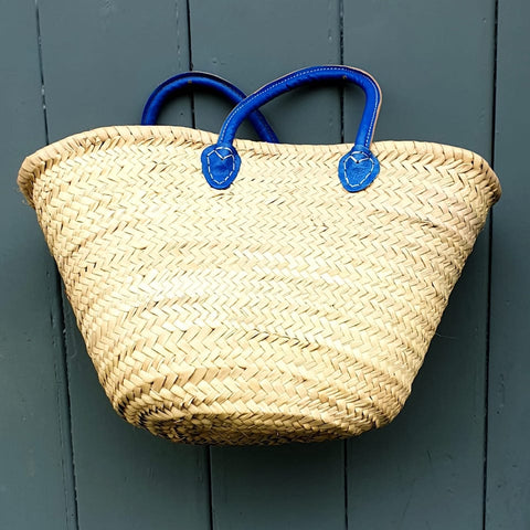 Blue Handled Shopping Basket