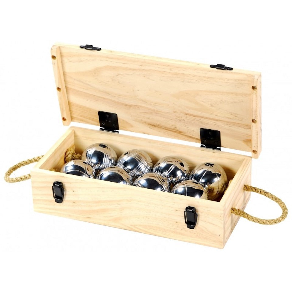 Boules in Wooden Box - Blue Bowl