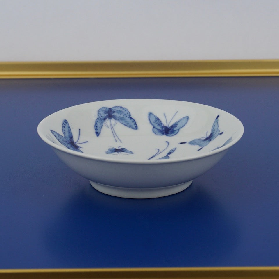 Butterfly Dish - Blue Bowl