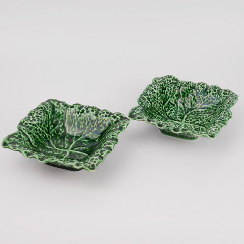 Pair of Vintage Cabbage Dishes