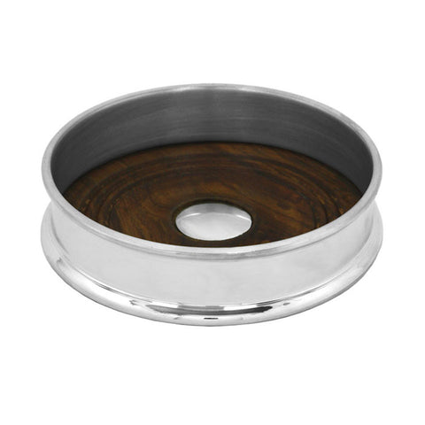 Pewter Wine Coaster - Blue Bowl