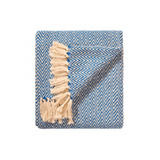 Chevron Cotton Throw - Blue Bowl