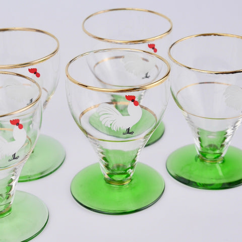 Set of Cockerel Glasses
