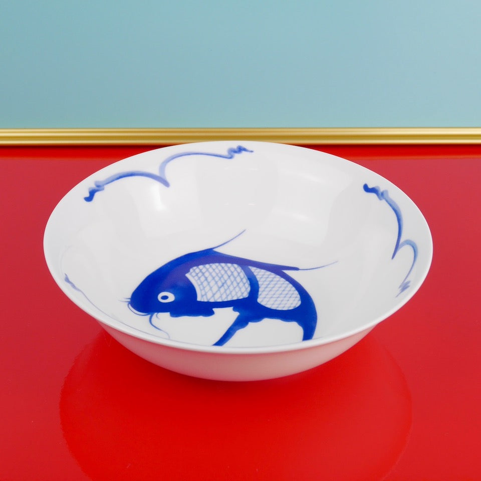 Fish Cereal Bowl - Blue Bowl